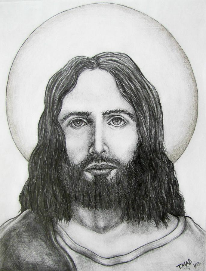 Jesus Christ Drawing By Michael TMAD Finney