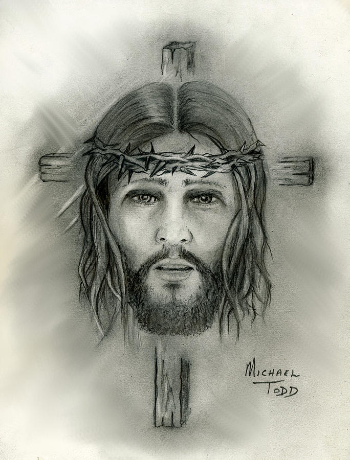 Jesus Christ Drawing By Michael Todd