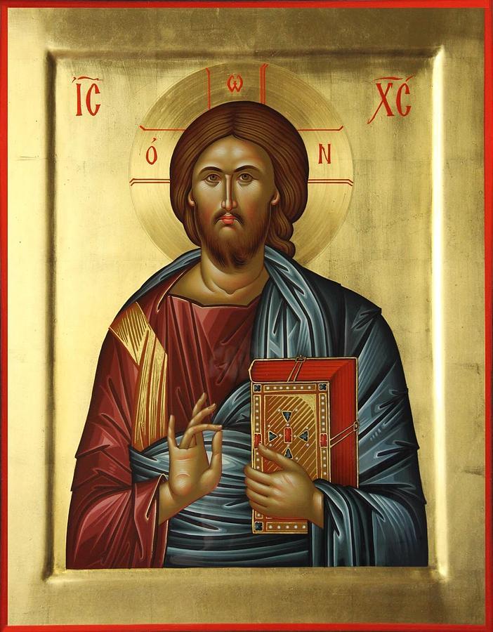 Jesu Christ Painting - Jesus Christ Pantokrator by Daniel Neculae