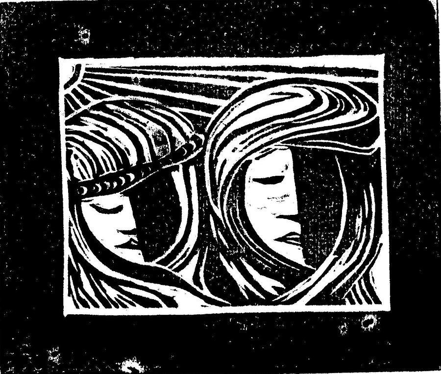 Jesus Mixed Media - Jesus Comforts The Women by Lars Lindgren