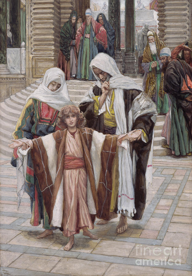 Jesus Painting - Jesus Found In The Temple by Tissot
