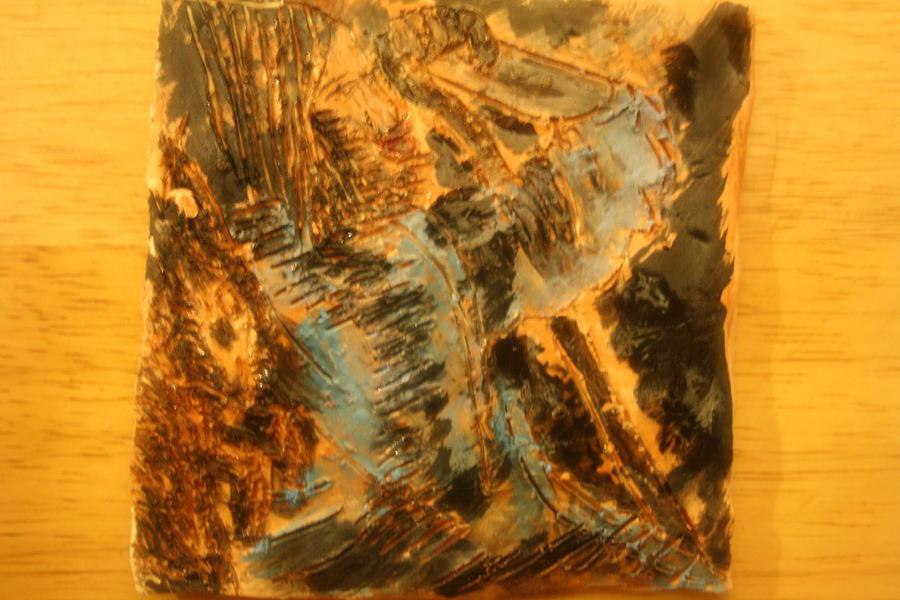 Jesus Ceramic Art - Jesus Good Shepherd - Tile by Gloria Ssali