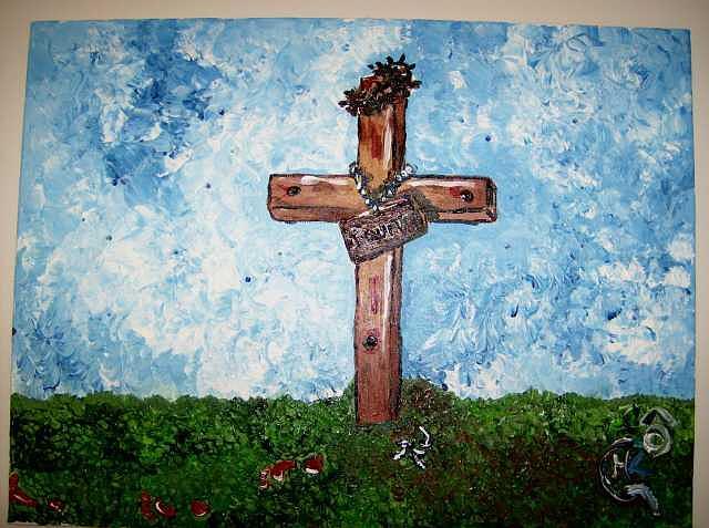 Jesus Painting - Jesus Had Enough He Quit by Michaela Gilt