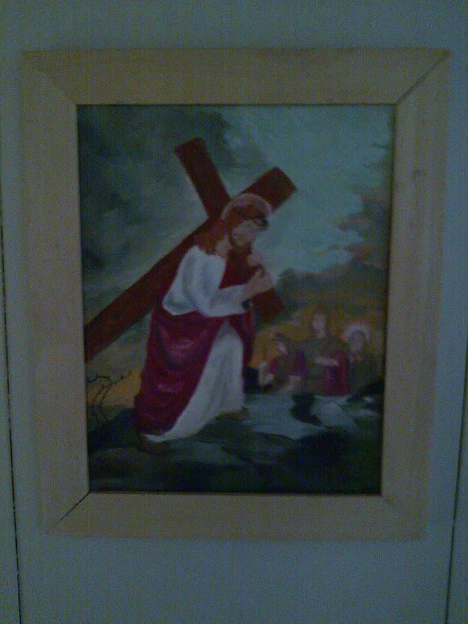 Pick Up The Cross And Follow Me Painting - Jesus  by Helen Vanterpool