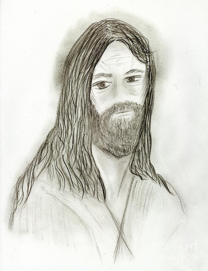 Jesus Drawing - Jesus I by Sonya Chalmers