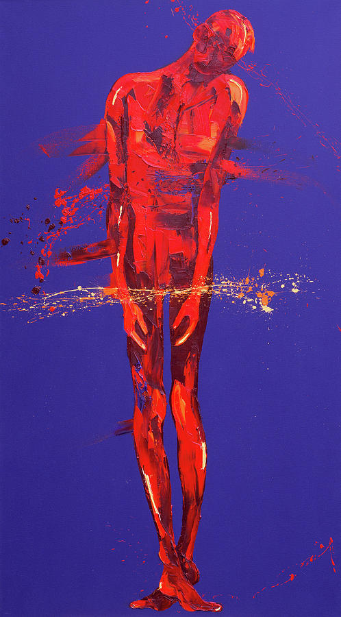 I Painting - Jesus Is Condemned  Station 1 by Penny Warden