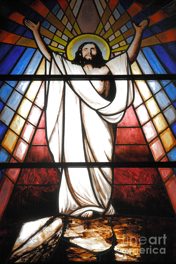 Stained Glass Photograph - Jesus Is Our Savior by Gaspar Avila
