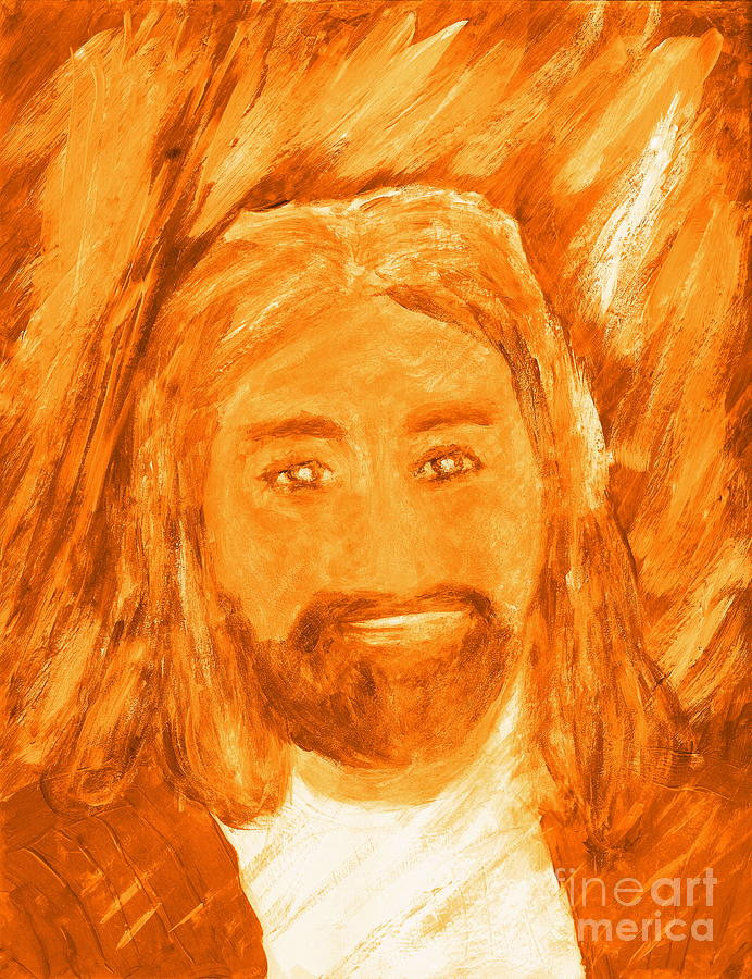 Jesus Is The Christ The Holy Messiah 3 Painting by Richard W Linford