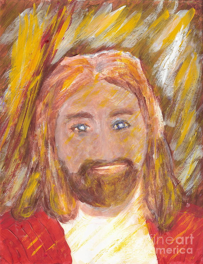 Jesus Painting - Jesus Is The Christ The Holy Messiah 5 by Richard W Linford