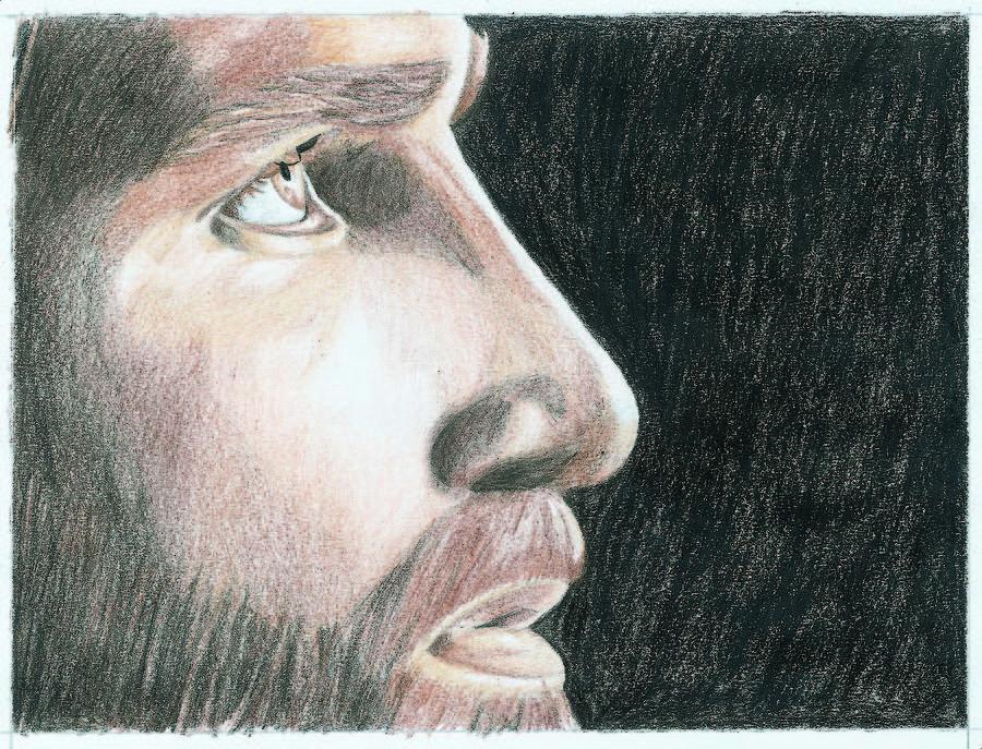 Jesus Drawing - Jesus by Jason McRoberts