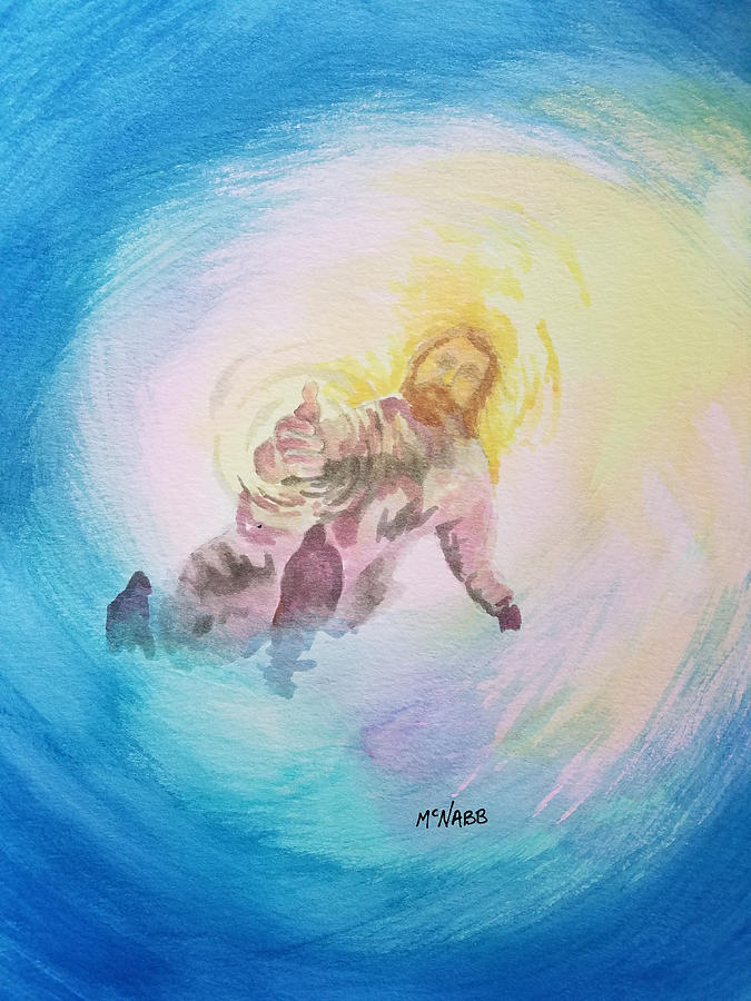 Jesus Painting - Take My Hand by Johnny McNabb