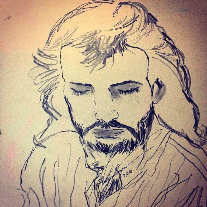 Life Drawing - Jesus Life by Love Art Wonders By God