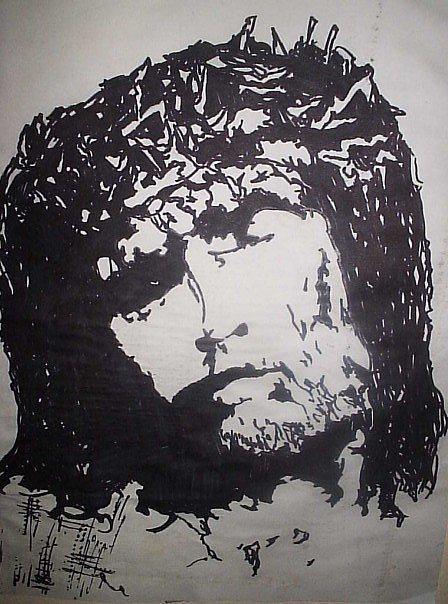 Jesus Drawing - Jesus by Madeleine Bien