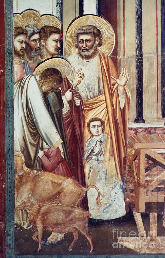 1304 Photograph - Jesus & Moneychanger by Granger