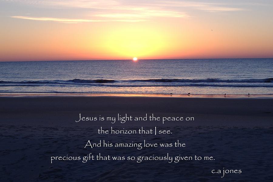 Christian Photograph - Jesus My Light by Chris Jones
