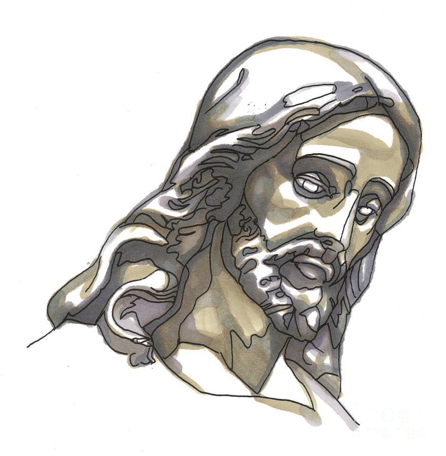 Jesus Painting - Jesus No 1 by Edward Ruth