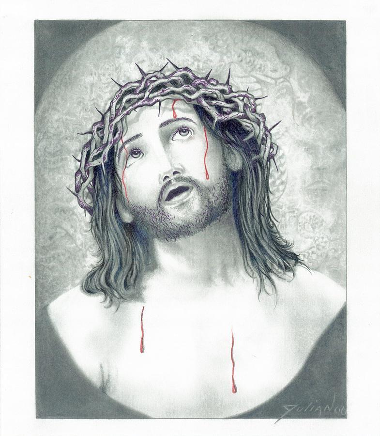 Jesus Drawing - Jesus Of Nazareth by Julian  B