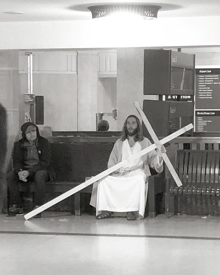 Jesus of Suburban Station by Alex Vishnevsky