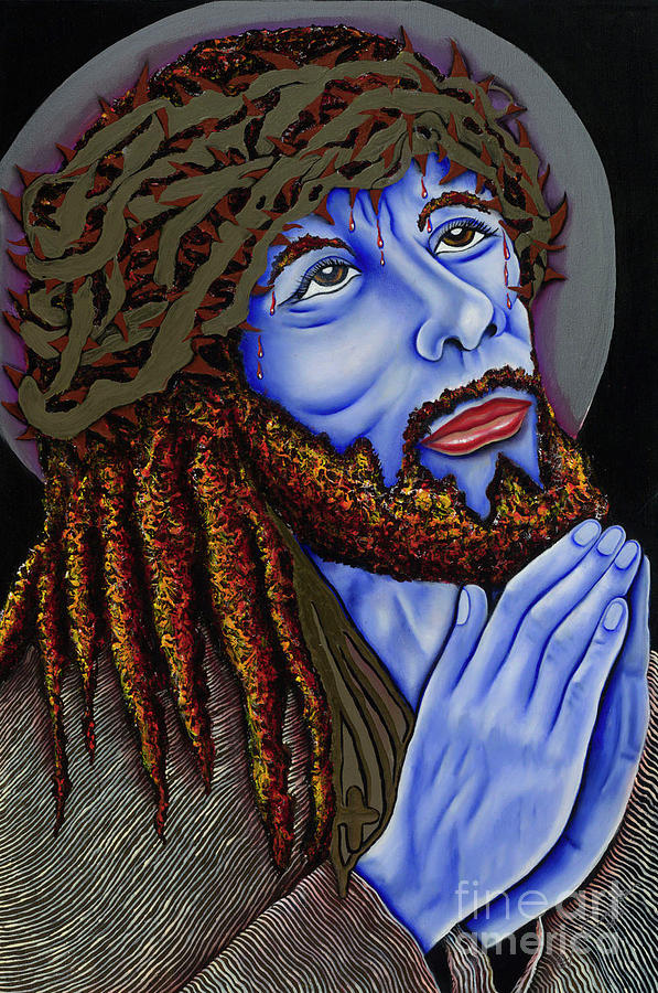 Portrait Painting - Jesus Peace by Nannette Harris