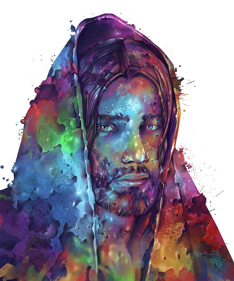 Jesus Portrait Color 2 Digital Art
