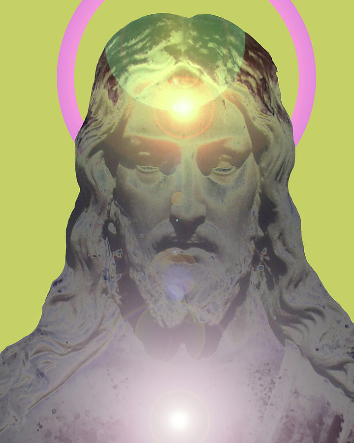Catholic Spirituality Mixed Media - Jesus Portrait No. 01 by Ramon Labusch