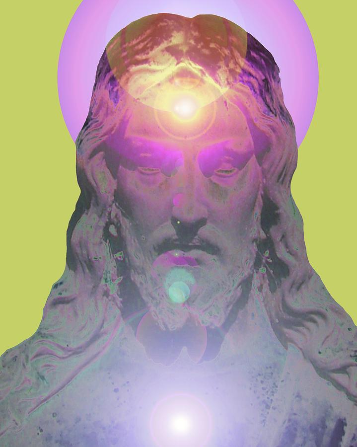 Catholic Spirituality Mixed Media - Jesus Portrait No. 03 by Ramon Labusch