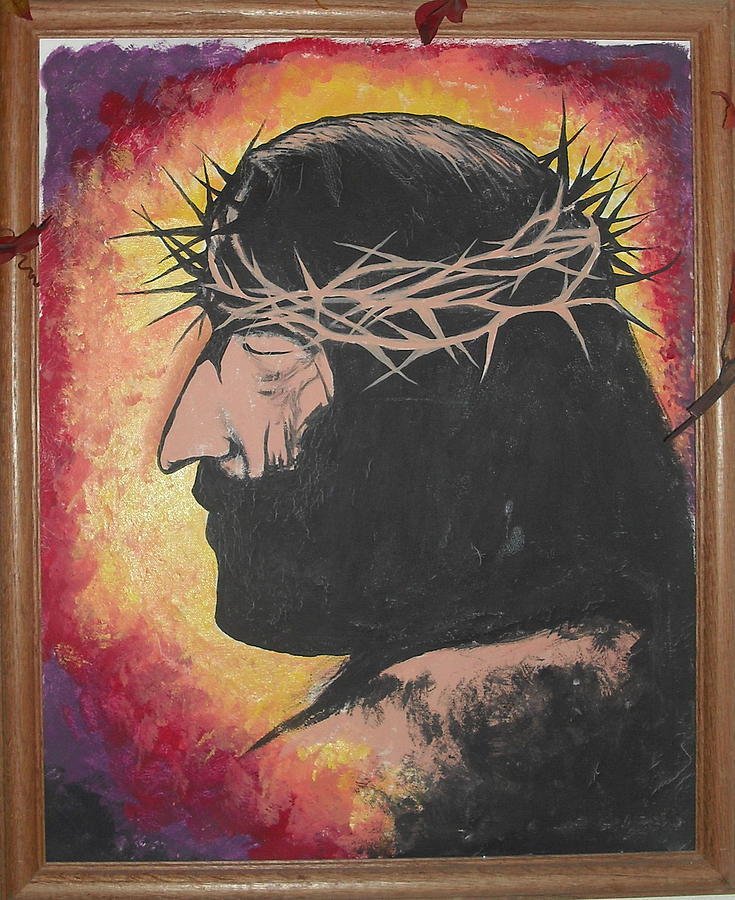 Jesus Painting by Renee Alina Barela
