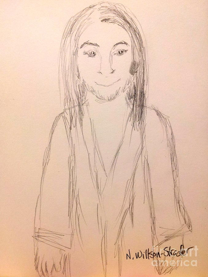 Jesus Drawing - Jesus, Rough Sketch by N Willson-Strader