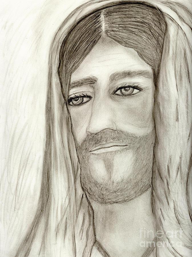 Jesus Drawing - Jesus by Sonya Chalmers