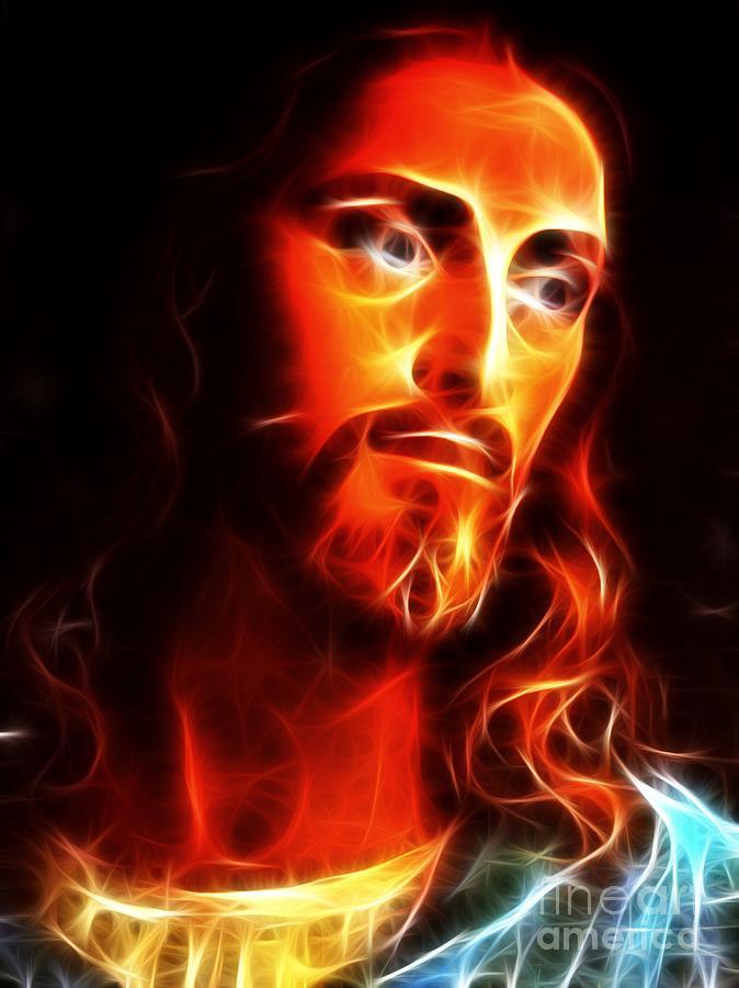 Jesus Mixed Media - Jesus Thinking About You by Pamela Johnson