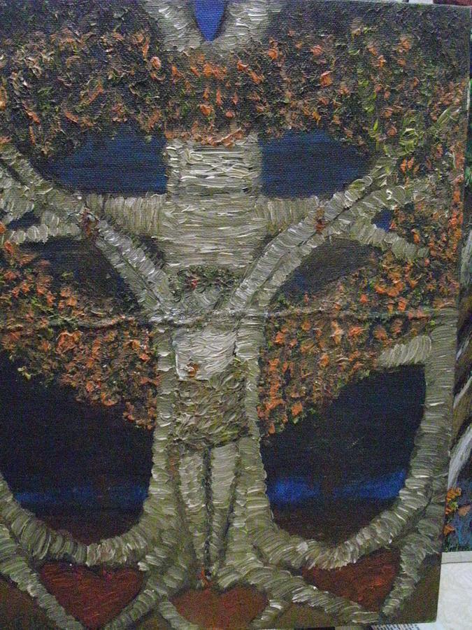 Jesus Tree Painting by Becky Jenney