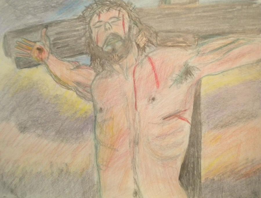 Jesus Drawing - Jesus  by Victoria Hasenauer