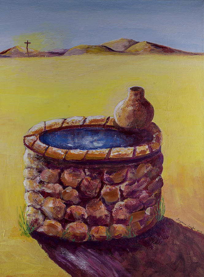 Jesus Well Of Living Water Painting By Sue Lemke