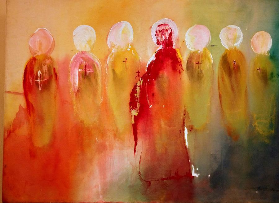 Jesus with His Apostles by Edward Longo