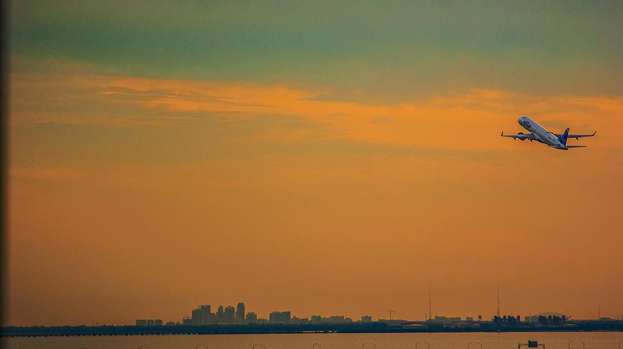 Tampa International Airport Photograph - Jet Orange by Jessica Graham