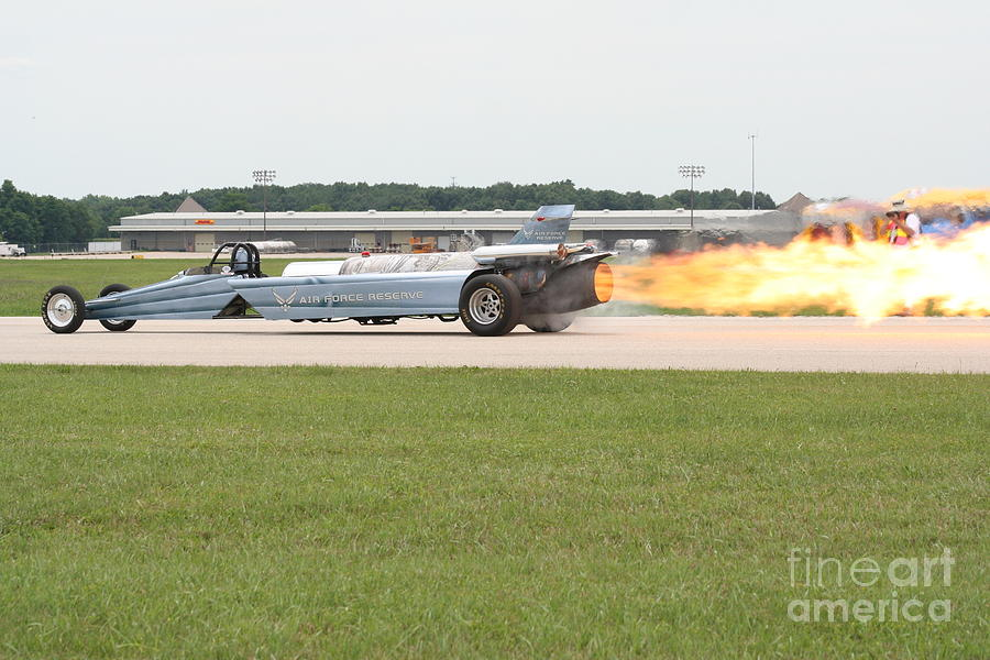 Jet Powered Car Photograph - Jet Powered Funny Car by Eric Irion