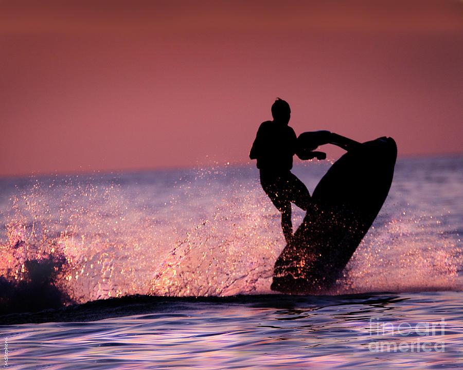 Jet Ski Photograph - Jet Ski On Lake Erie by Mark Stephens