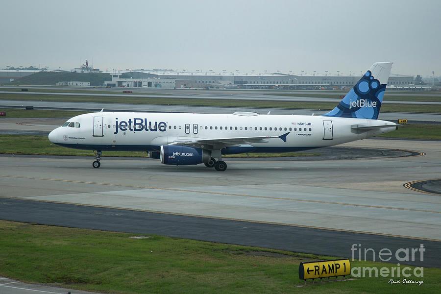 Jetblue Photograph - jetBlue Airways Jet N590JB Arriving Hartsfield-Jackson Atlanta International Airport Art by Reid Callaway