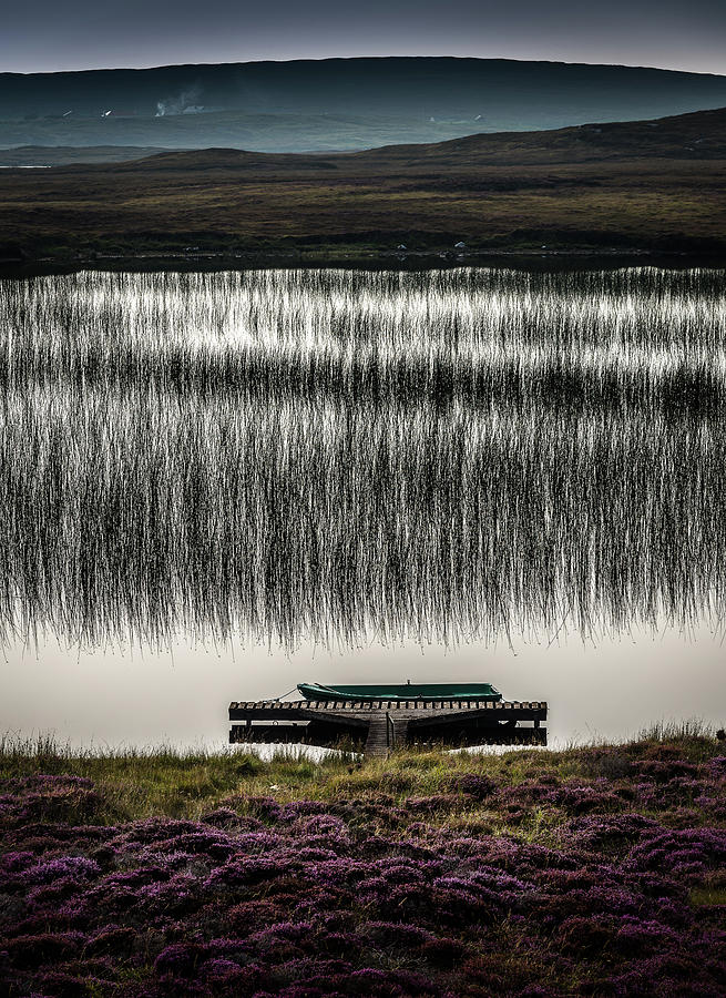 Scotland Photograph - Jetty, Loch na Maracha, Isle of Harris by Peter OReilly