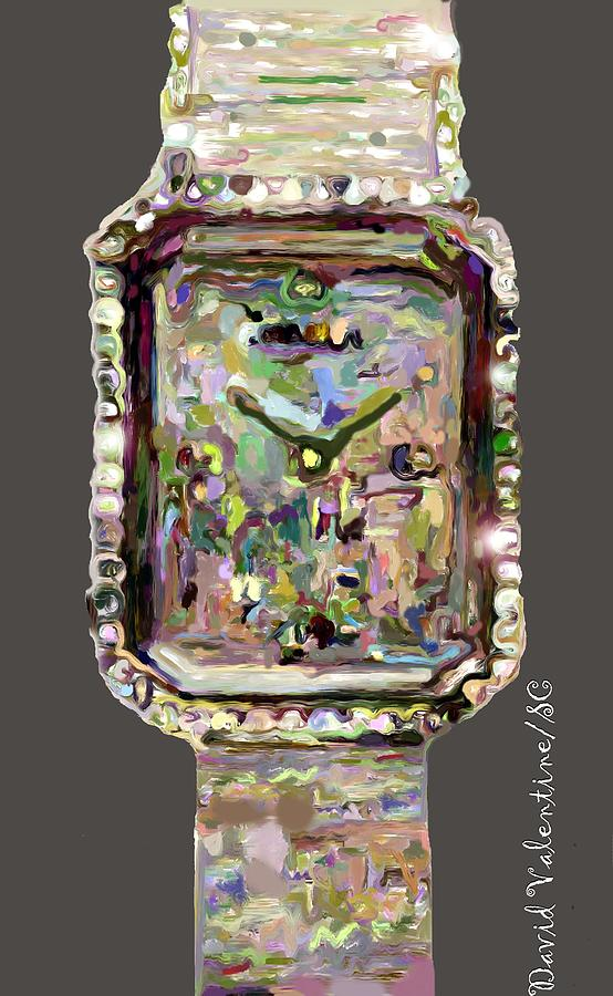 Jewel Encrusted Palette Timepiece by David A Valentine