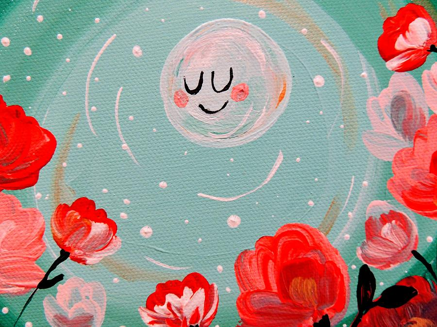 Roses Painting - Jewel Moon by Hillary Wooten