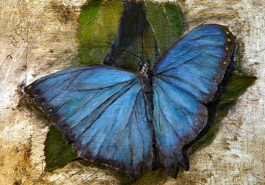 Butterfly Painting - Jewel of the Garden by Merle Blair