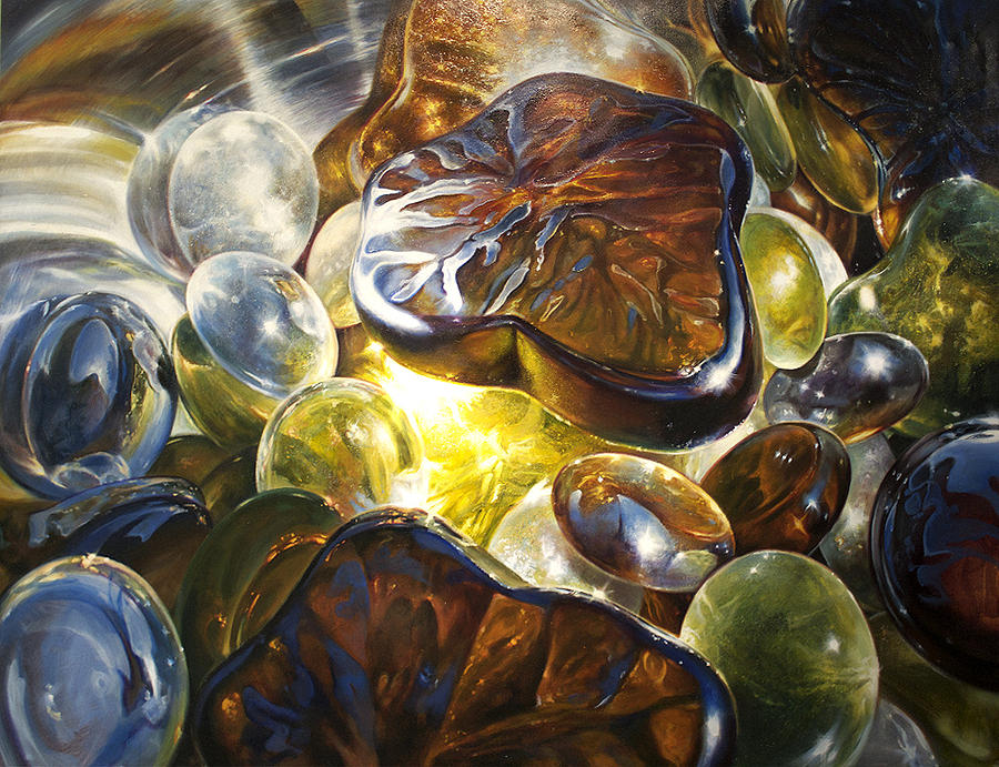 Jewels Painting - Jewel Quest by Keith  Goodson