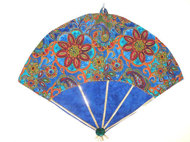 Jewel Tones Tapestry - Textile - Jeweled Fan by Maureen Wartski