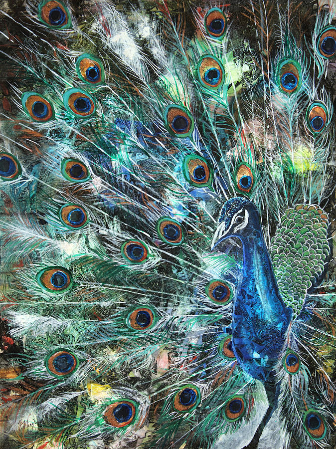 Peacock Painting - Jeweled by Patricia Allingham Carlson