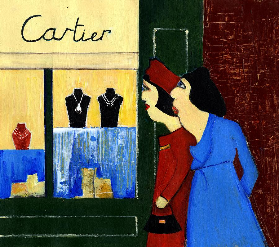 Cartier Painting - Jewelry Store by Agnes Trachet