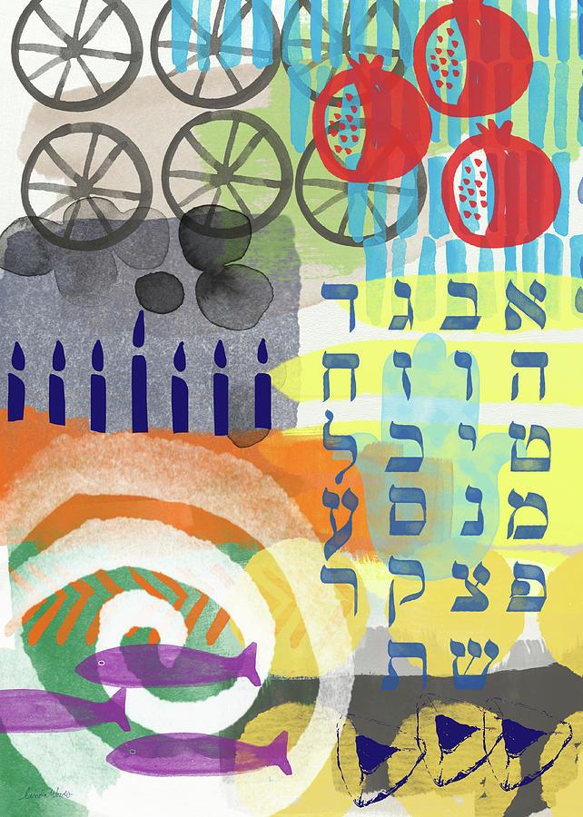 Judaica Mixed Media - Jewish Life 1- Art by Linda Woods by Linda Woods