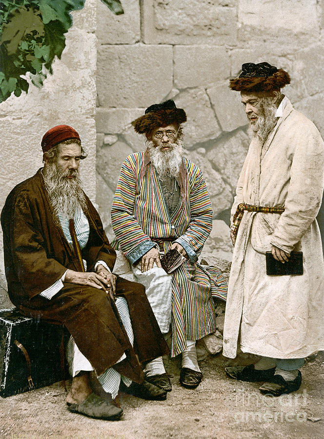 1900 Photograph - Jews In Jerusalem, C1900 by Granger