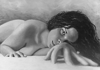 Nude Painting - Jezabel by Alex Aviles