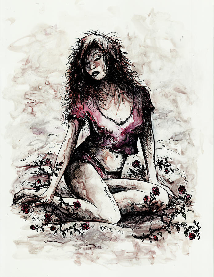 Figure Drawing - Jezebel by Rachel Christine Nowicki